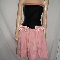 Escada Womens 0 2 Sexy Iconic 1980's Velvet Silk Black Pink Formal Vintage Dress Photo
