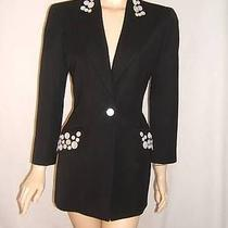 Escada Womens 36 6 Rare Mother of Pearl Buttons Vintage Mint Jacket Blazer Photo