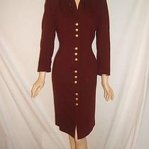 Escada Womens 38 8 Gorgeous Burgundy Wine Wool Upscale Vintage Dress Photo
