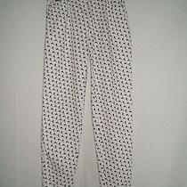 Escada Womens 40 10 Sexy Fun 80's 1980's White Dolphins High Waist Pants Jeans Photo