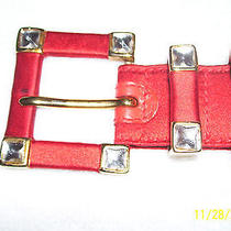 Escada Womens Belt Red  Photo