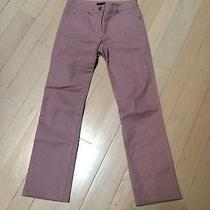 Escada Womens Lavender Pants With a Sparkle and a Large Leather Back Label Photo