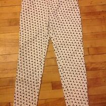 Escada Womens White Jeans Unique Dolphin Pattern High Waisted Size 40 (10) Photo
