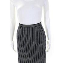 Escada Womens Wool Striped Pencil Skirt Black Size 38 Eur Ll19ll Photo