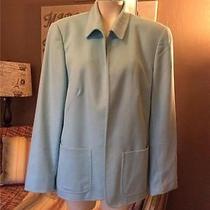 Escada Wool and Angora Rabbit Aqua Blazer Jacket Size 42 12 Photo