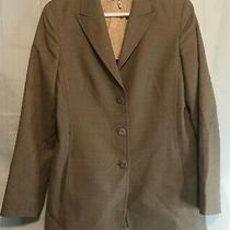 Escada Wool Brown Tweed Jacket Size 38lovely Photo