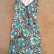 Escada Zebra Flower Dress Size M Photo