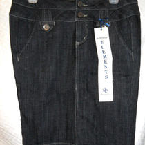 Essential Elements Boom Boom Jeans Skirt Bb Sz M Med Black Nwt Medium Photo