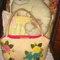 Estate Fossil 3d Velvet Flower Summer Garden Handbag Satchel Purse Shoulder Bag Photo