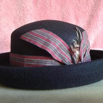 Estate Sale - Beautiful Blue / Blk  Fancy Hat  -  Need to Clear  Photo