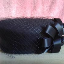 Estate Sale - Ladies Beautiful Black Color Net Fancy Hat  -  Need to Clear  Photo