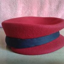 Estate Sale - Ladies Beautiful Red & Blk Blue Color Fancy Hat  - Need to Clear  Photo