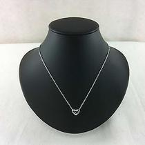 Estate Signed Swarovski Heart Pendant Necklace  4010220915 Photo