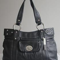 Etienne Aigner Audrey Black Leather Medium Tote Handbag Purce Nwot Msrp 120 Photo