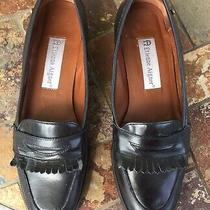 Etienne Aigner Black Buckingham Fringe Kiltie Flats Size 6.5 N Photo