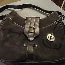 Etienne Aigner Black  Leather and Cloth  12