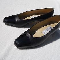 Etienne Aigner Black Leather and Patent Leather Pumps Photo
