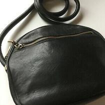 Etienne Aigner Black Leather Handbag Purse Shoulder Bag Cross Body Insde Zip Photo