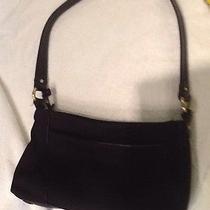 Etienne Aigner Black Microfiber Handbag With Leather Details Photo