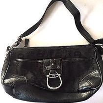 Etienne Aigner Black Shoulder Bag Leather Purse  Photo