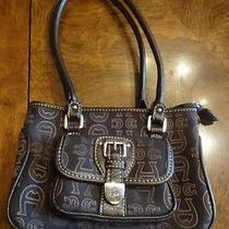 Etienne Aigner Brown Canvas Like Small Handbag Excellent Pre-Owned Condition Photo