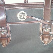 Etienne Aigner Brown Leather & Microfiber Handbag Photo