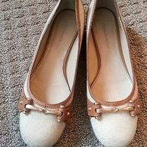 Etienne Aigner Cotton Ballet Flats Size 8.5 M Flat (0 to 1/2 In.) Photo