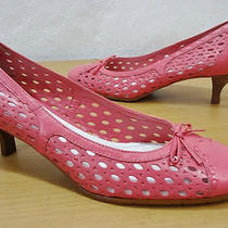 Etienne Aigner E-Ballo Pink Leather Heels Shoes 7.5 M Photo