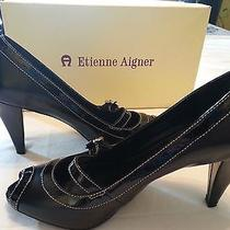 Etienne Aigner Heels (Black) Size 7.5 Photo