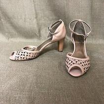 Etienne Aigner Heels Women's Size 8.5 M Blush Pink Peep Toe Pump Shoes Photo