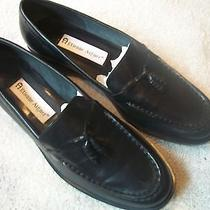 Etienne Aigner Ladies Sz 8m Black  Leather Uppers Loafers Flats Great Euc Photo