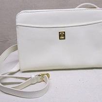 Etienne Aigner Off White Ivory Leather Crossbody Purse  Photo