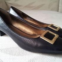 Etienne Aigner Renne Signature Buckle Genuine Leather Pumps Sz 8 M New Lk Photo