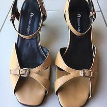 Etienne Aigner Thruway Brown Leather Strappy Heels Womens 8.5 M Photo