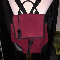 Etienne Aigner Wine Wool Backpack Purse Lovely Photo