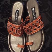 Etienne Aigner Womens Brown Heeled Slides Sandals Size 9.5m Nwb Photo