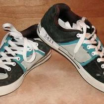 Etnies Boys Aqua & Black Suede Sneaker Shoes. Size 10 Eur 43. Euc Photo