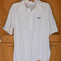 Etonic Mens Size Xl White Glen Campbell La Open Polo Shirt Photo