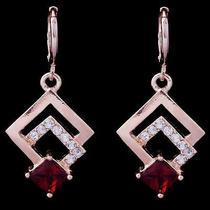 Eu Shine Fashion Hot Rose Gold Filled C.z Women Lady Earrings Jewelry Cz0090 Photo