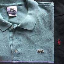 Euc 2 Lot Lacoste 7 Striped Polo Ralph Lauren Mens Extra Large Green Blue Ss Photo