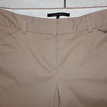 Euc 6 (33 L ) Theory Butternut/sand Brown/tan Pin Striped Work Dress Pants Photo
