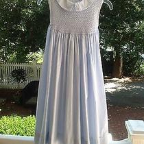Euc 8 Orient Expressed Blue Smocked Dress Wedding Portrait Beach Photo
