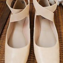 Euc a.n.a. Mercy Blush Pink Nude Ballet Flats Shoes Sz 7.5 Photo