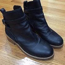 Euc Acne Studios Clover Suede & Leather Boots Black Size 36 Photo