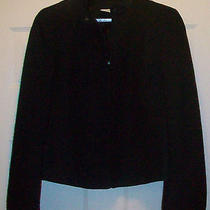 Euc Akris Punto High End Fashion Black Zip Front Jacket Us 8 F 40 D 38  Italy Photo