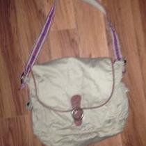Euc American Eagle Outfitters Aeo Canvas Messenger Bag W/ Leather Trim Euc Photo
