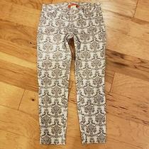 Euc Anthropologie  Cartonnier Charlie Ankle Jacquard Pants Size 0 Tan/gray Photo