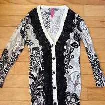 Euc Anthropologie Field Game Cardigan in White/black Size Xs Photo