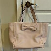Euc Authentic Kate Spade Rose Blush Pink Medium Leather Tote With Bow Photo