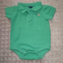 Euc Baby Gap Baby Boy Green Bodysuit 6-12 Months Photo